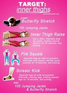 Inner thigh workout - add free weights to squats for a combo workout