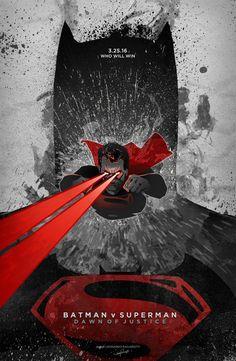 Batman v Superman: Dawn of Justice VARIANT poster by le0arts.deviantart.com on @DeviantArt