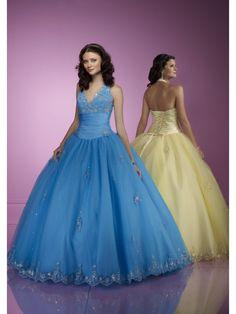 New Arrival Ball Gown V-Neck Sleeveless Floor Length Quinceanera Dresses QD0009