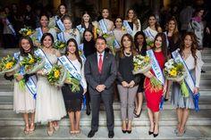 Grupo Mascarada Carnaval: Bermúdez recibe a las 47 aspirantes a reinas del C...
