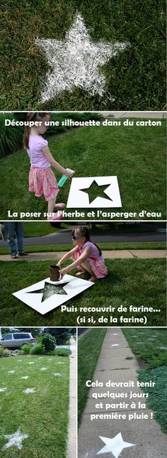 Pour décorer ton gazon ou tes allées de façon très très écolo et économique. De quoi prévoir un terrain foot dans le jardin avec de jolies bandes blanches par exemple ! - DIY : decorate your lawn ! #Decoration, #Grass, #Lawn