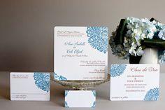 "Letterpress Wedding Invitation-- ""Ava"" by Gwyneth Paige {Couture Letterpress}"