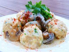 Zalai babos gombóc Potato Salad, Mashed Potatoes, Dishes, Meat, Chicken, Ethnic Recipes, Food, Birthday, Happy