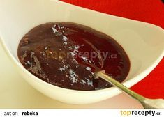 Pečená švestková povidla recept - TopRecepty.cz Croissants, Chocolate Fondue, Zucchini, Food And Drink, Pudding, Sweet, Candy, Crescents, Custard Pudding