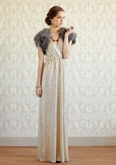 Spark Of Light Metallic Maxi Dress. Bride or maids possibility.