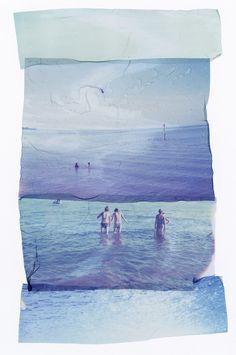 Very Cool 'Summer' polaroid emulsion transfer piece by Rhiannon Adam, love the Medium transfer concept Polaroid Photos, Polaroids, Experimental Photography, Illustration, Summer Art, Photomontage, Looks Cool, Photo Art, Art Photography
