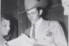 "rockincountryblues: ""Hank Williams with fan """