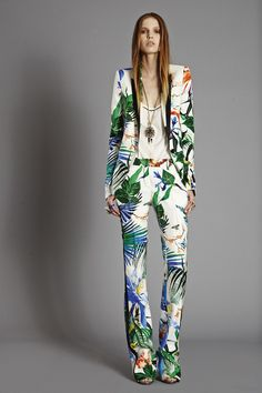 LOVE this #RobertoCavalli SS15 Collection Print! So summery and fresh!