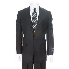SKU#BL467 Mens Black 1-One button Peak Lapel Suit + Flat Front Pants Super 150s Wool. Get thrilling discounts at Men's USA using coupon and Promo Codes.