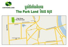 The Map of Project The park land Sen Sok. Property Development, Map, Location Map, Maps