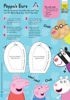 14 best kids pig costume diy images on pinterest kids pig costume how to make a peppa pig costume for world book day with downloadable templates maxwellsz