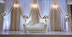 Desi Wedding Decor, Wedding Hall Decorations, Romantic Wedding Decor, Backdrop Decorations, Reception Stage Decor, Moon Decor, Rustic Backdrop, Bridal Table, Backdrops For Parties
