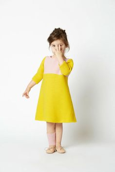 Gorgeous yellow dress, so simple yet breathtaking in its color. #designer #kids #fashion