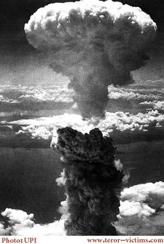 US bomb explosion in Hiroshima with 180000 dead and wounded
