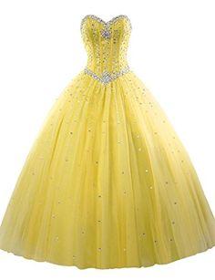 Wallbridal Beaded A-line Tulle Ball Gown Quinceanera Dress Colorful Custom Dresses (2, Yellow) Wallbridal http://www.amazon.com/dp/B019UQJ35M/ref=cm_sw_r_pi_dp_LhO5wb11BPR03