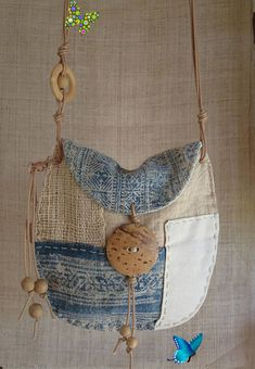 Your place to buy and sell all things handmade Indigo hemp textile patchwork pouch<br> Fabric Crafts, Sewing Crafts, Indigo, Boho Bags, Patchwork Bags, Denim Bag, Fabric Bags, Natural Linen, Handmade Bags