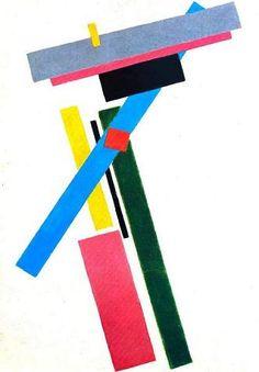Kazimir Malevich Con el suprematismo, Malévich reduce los elementos pictóricos al mínimo extremo (el plano puro, el cuadrado, el círculo y la cruz) y desarrolla un nuevo lenguaje plástico que podría expresar un sistema completo de construcción del mundo