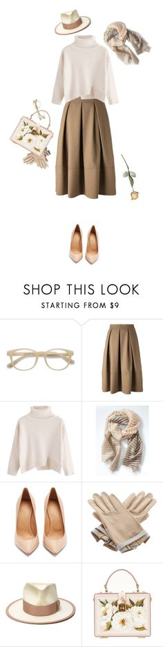 """morning jazz"" by ms-wednesday-addams ❤ liked on Polyvore featuring EyeBuyDirect.com, Société Anonyme, Banana Republic, Maison Margiela, Hermès, Nick Fouquet and Dolce&Gabbana"