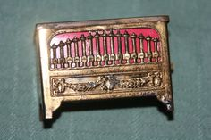 Rare FIGURAL ANTIQUE ~~BRASS PIPE ORGAN Tape Measure~~NOVELTY