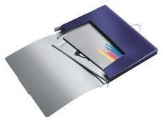 Documentenbox Leitz style 30mm pp blauw