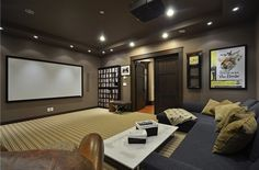The home cinema maybe with a projector?