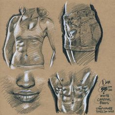 Another life-drawing set (from random photoreference) drawn on toned paper. Looks nice, but seems of dubious usefulness for my comics work,… Basic Drawing, Body Drawing, Life Drawing, Pencil Art Drawings, Drawing Sketches, My Drawings, Figure Sketching, Figure Drawing, Toned Paper