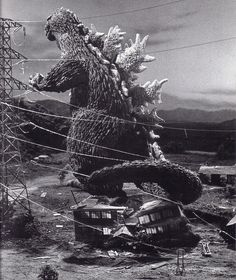 Godzilla never liked that house (1962)
