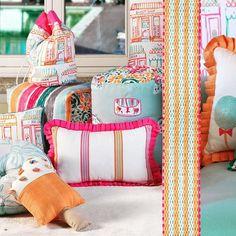 La Grande Kermesse fabrics. Luxury Homes, Kids Room, Gift Wrapping, Interior Design, Architecture, Grande, Fabrics, Gifts, Inspiration