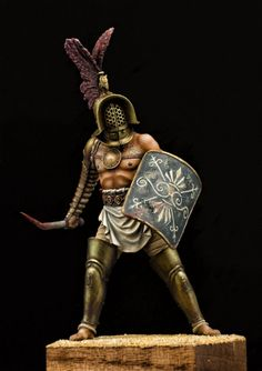 Tracian by Andrey Miroshnichenko · Putty&Paint Warrior Concept Art, Gladiator Armor, Roman Gladiators, Rome Antique, Roman Warriors, Epic Characters, Roman Soldiers, Military Figures, Character Modeling