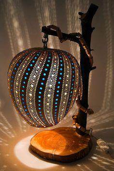 40 Amazing Art Inspired Gourd Lamps - Bored Art
