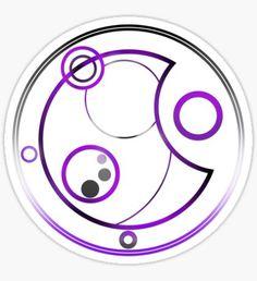 Asexual in Circular Gallifreyan Sticker