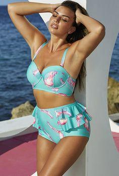 Gabi Fresh Sea Reef Mid-Waist Bikini, via Swimsuitsforall