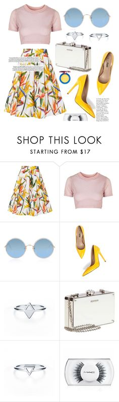 """Untitled #639"" by cece-cherry ❤ liked on Polyvore featuring Karen Millen, Topshop, Sunday Somewhere, Miu Miu, MAC Cosmetics, summeroutfits, maccosmetics, skirtoutfit and YellowOutfits"