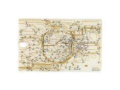 FLASH 東京回路線図 ICカードケース 白【新商品 名入れ無料サービス実施中】
