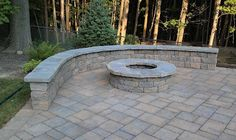 Firepit and Sitting wall