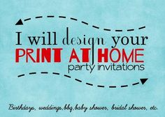 Get custom invitations for any event and stay on budget! Only $5! #Fiverr #customparty