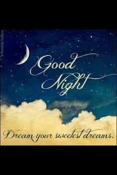Goodnight, my love... Sleep well...