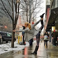 Headed to New York City today! I'm so excited! I am teaching at @pureyoganyc West all weekend if you want to drop by and say hi. This pic was my first snow experience in NYC two years ago. That year was the second coldest on record and we FROZE! I hope this year is a little warmer because I don't own a jacket. Lol 😂 😱Catch me on snapchat if you want to find out. #imayfreeze 😨 User name: beachyogagirl #NYC #nycyoga #flashbackfriday