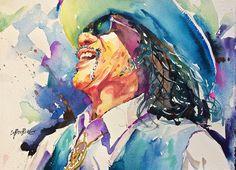 """My latest """"California Vibe Watercolor"""" portrait."""