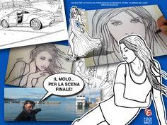 giorgio Espen illustratore veronese che ha voluto realizzare un racconto ambiatntato a #peschieradelgarda a #verona che vede come protagonista della storia e #wallpaper la #modella #italiana #ariannaespengrimoldi di #milano  #fumetto presente sul sito www.neurone.es