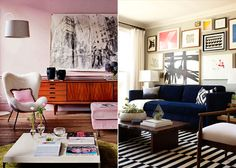 Design Mistakes_Art hung the right height_credenza living room