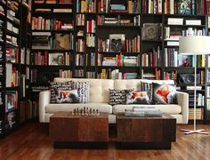 Oh for the love of books!  This would be awesome on a rainy Saturday! Cozy Library Styles For Your HomesStudioAflo | Interior Design Ideas | StudioAflo | Interior Design Ideas