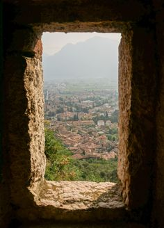 View from Castello di Arco, Italy  #travel #italy #photography #scenery #mountains #church #wanderlust #northern #europe #view #castle #arco