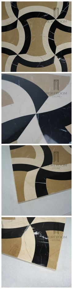 Golden Beige Marble Tiles Composited Marble Waterjet Medallion Luxury Floor Pattern Home Marble Design Building Material Floor Medallion Marble Price