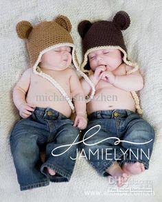 brauner affe, häkelarbeit-Baby-Kleinkind affenkind jungen-Hut-Kappe baby strickmütze