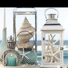 Love the starfish in the lantern