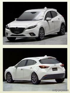 "Mazda Axela Sport de papel, download de modelos de papel - Automóveis - Tecnologia civil - Catálogo de modelos - ""Apenas papel"""