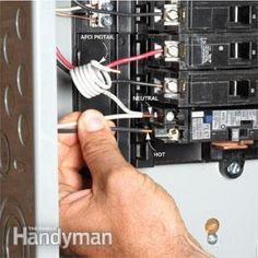Adding a new circuit can be a daunting and even dangerous job. We show you how to do it with step-by-step instructions and important, life-saving safety tips. Home Electrical Wiring, Electrical Projects, Electrical Outlets, Electrical Engineering, Electrical Inspection, Electrical Shop, Arduino, Home Safety Tips, Breaker Box