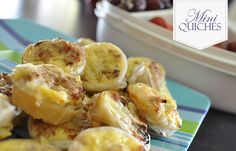 Mini Quches are delightful snacks to have for parties, morning tea or food to put in kids lunchboxes. Cheese and Bacon Mini Quiches are delicious. Lunch Box Recipes, Lunchbox Ideas, Candy Recipes, Mini Quiches, Little Lunch, Quiche Recipes, Savory Snacks, Appetisers, Kids Meals