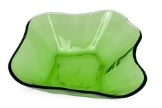 ALVAR AALTO - Glass bowl for Iittala, 1930/40s, Finland. - Clear with green cased glass, blown to a wooden mould. Height 7,5 cm, width 30 cm. Glass Design, Design Art, Alvar Aalto, Lassi, New Pins, Finland, Auction, Tableware, Green